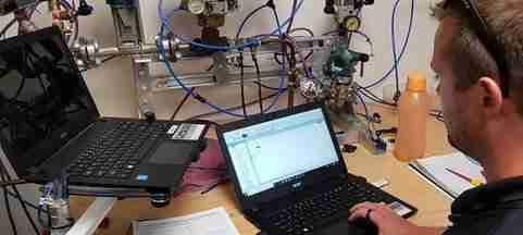 Student doing a HMI SCADA practical course